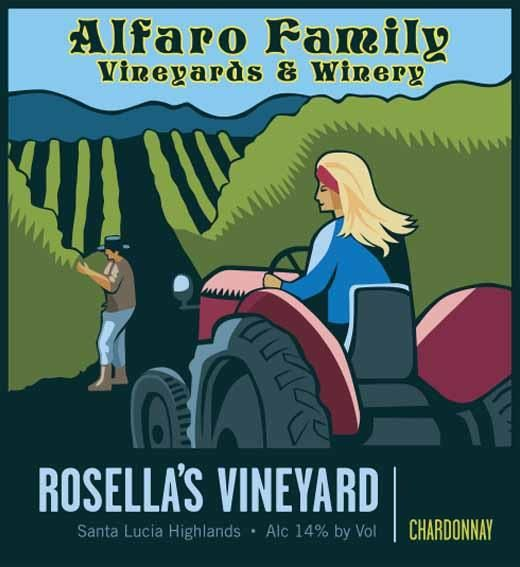 Alfaro Family Rosella's Vineyard Chardonnay 2017  Front Label