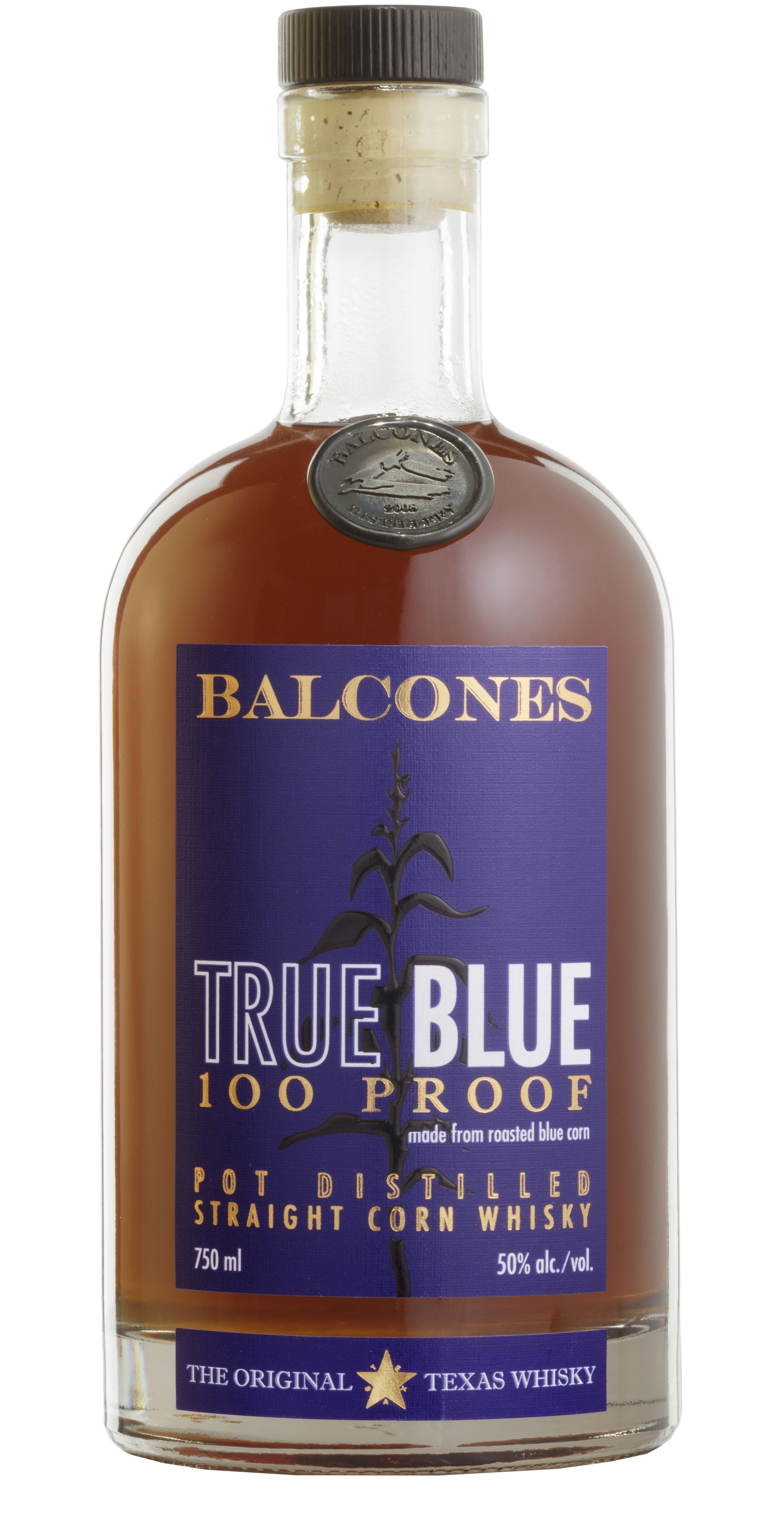 Balcones True Blue Straight Corn Whisky  Front Bottle Shot