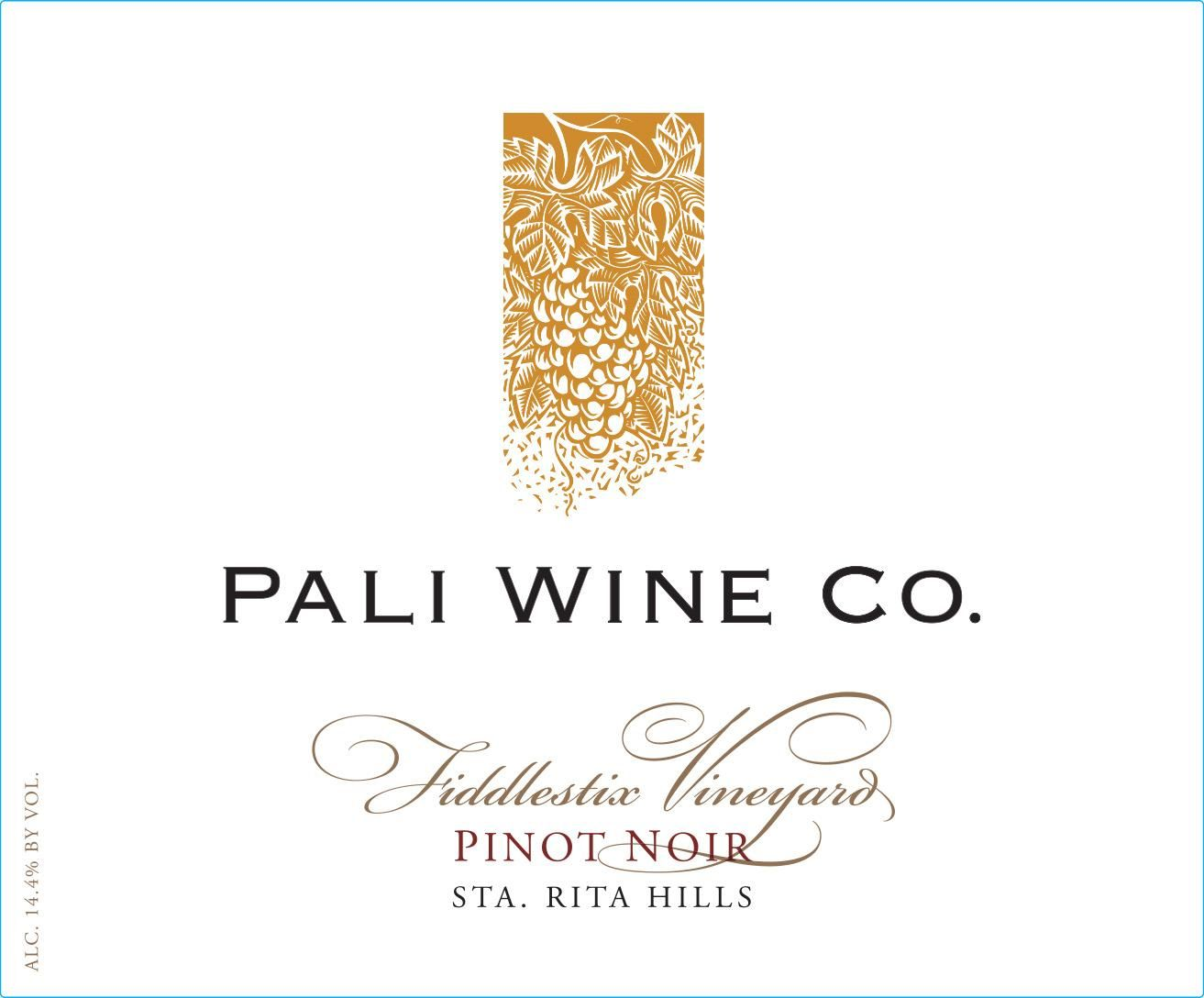 Pali Wine Co Fiddlestix Pinot Noir 2016  Front Label