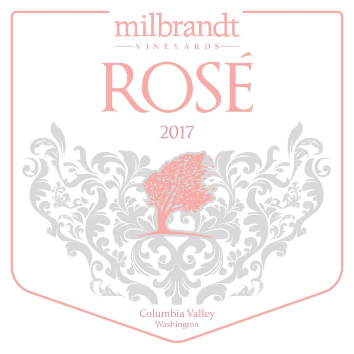 Milbrandt Traditions Rose 2017  Front Label