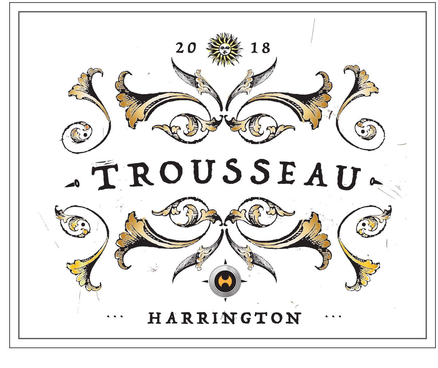 Harrington Siletto Vineyard Trousseau 2018  Front Label
