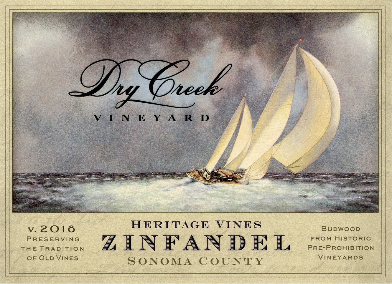 Dry Creek Vineyard Heritage Zinfandel 2018  Front Label