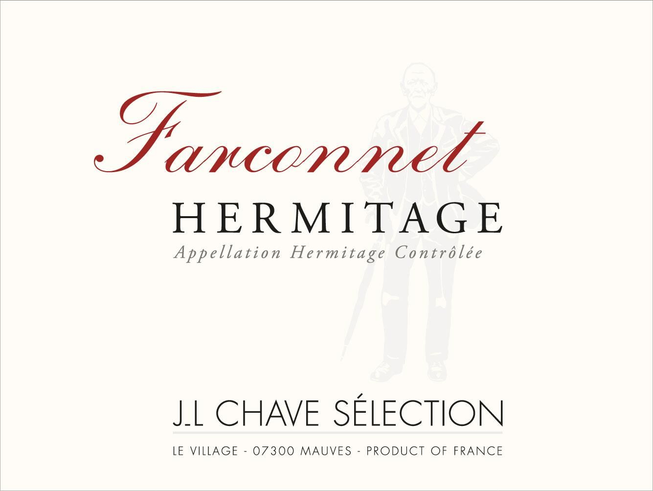 Jean-Louis Chave Selection Hermitage Farconnet 2015  Front Label