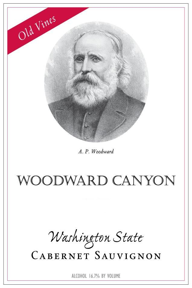 Woodward Canyon Old Vines Cabernet Sauvignon 2015 Front Label