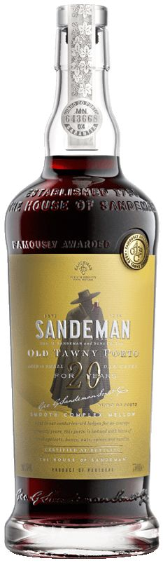 Sandeman 20 Year Old Tawny Front Bottle Shot