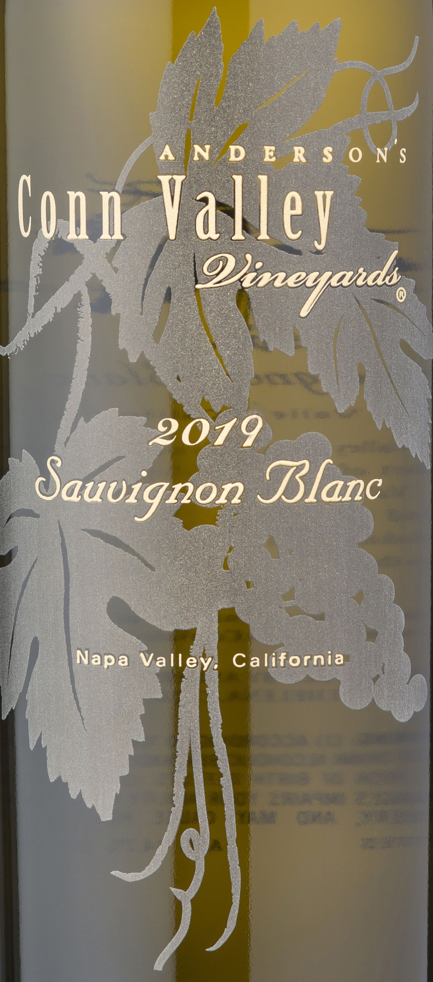 Anderson's Conn Valley Vineyards Sauvignon Blanc 2019  Front Label