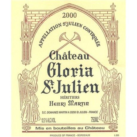Chateau Gloria  2000 Front Label