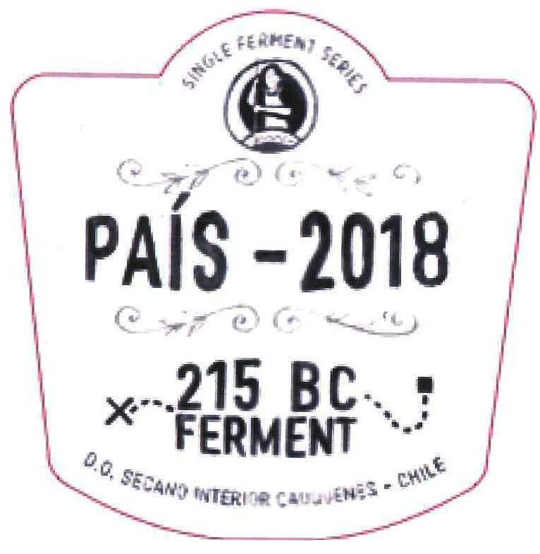 Garage Wine Co. Pais 215 BC Ferment 2018  Front Label