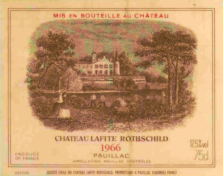 Chateau Lafite Rothschild  1966  Front Label