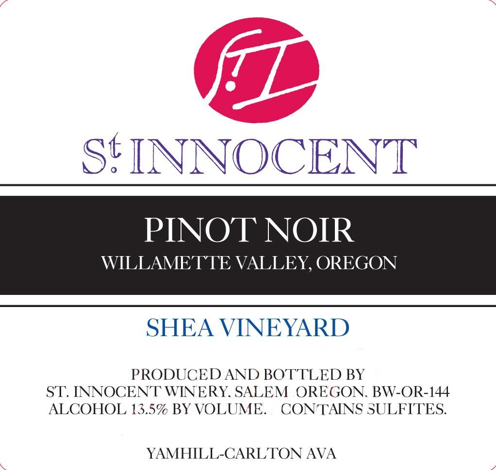 St. Innocent Shea Vineyard Pinot Noir 2015 Front Label