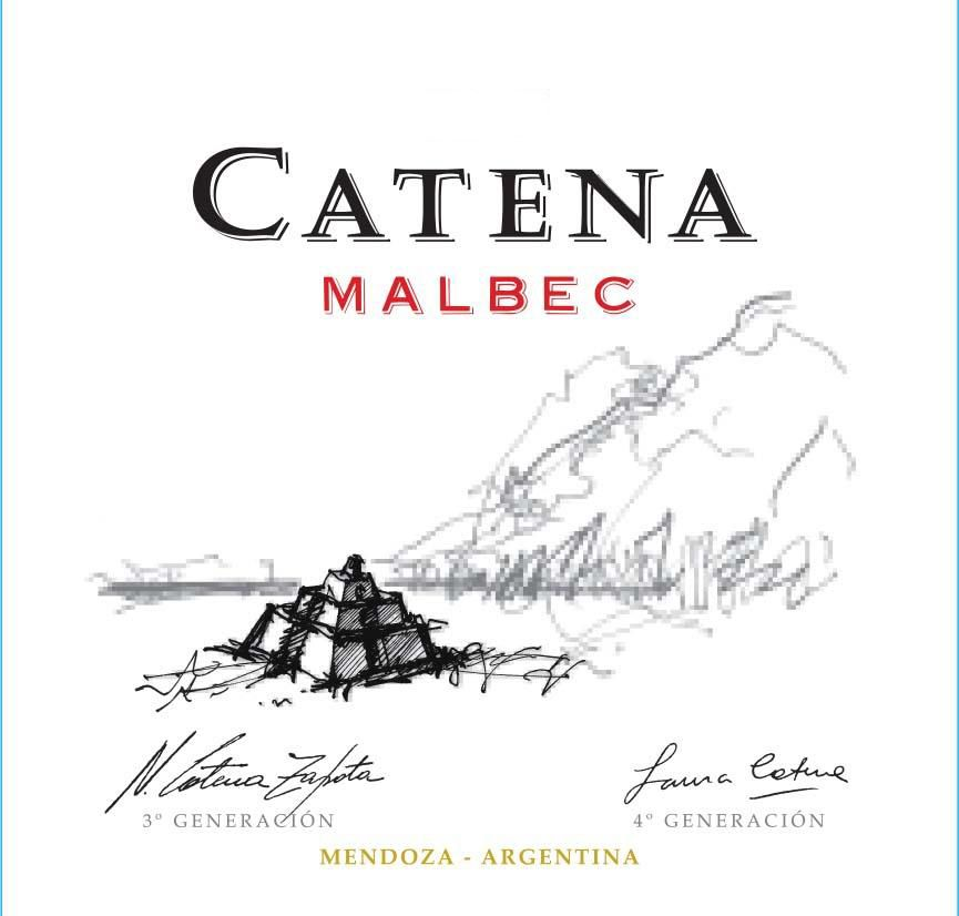 Catena Malbec 2018  Front Label