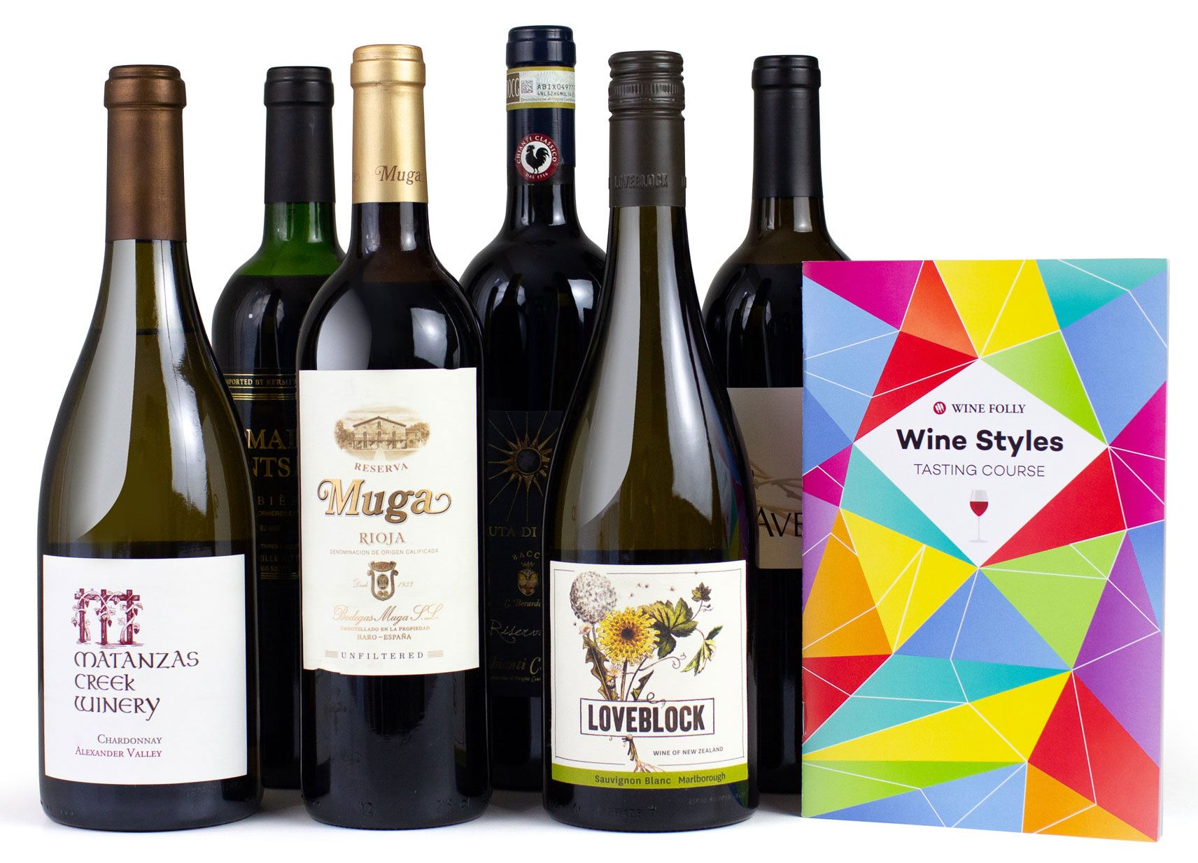 wine.com Wine Folly 6-Bottle Wine Styles Tasting Course  Gift Product Image