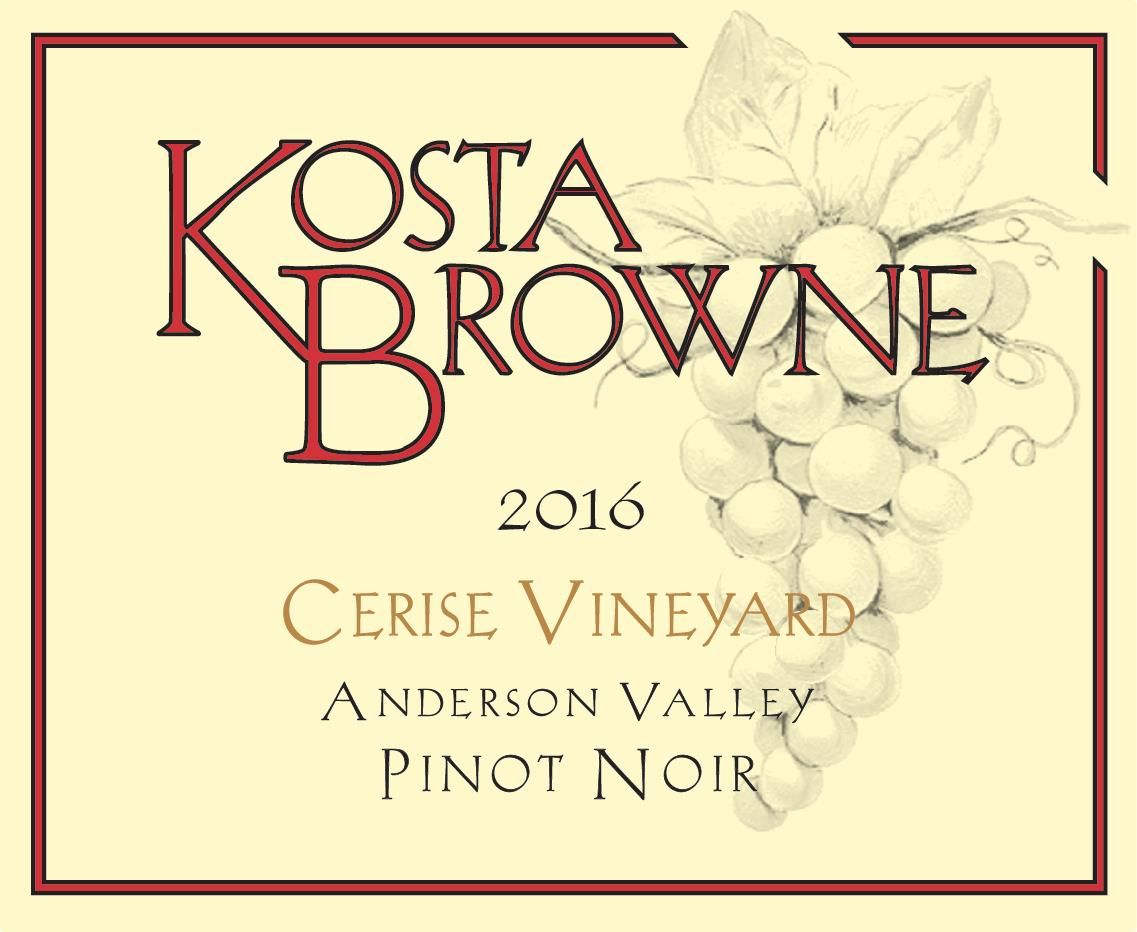 Kosta Browne Cerise Vineyard Pinot Noir 2016  Front Label