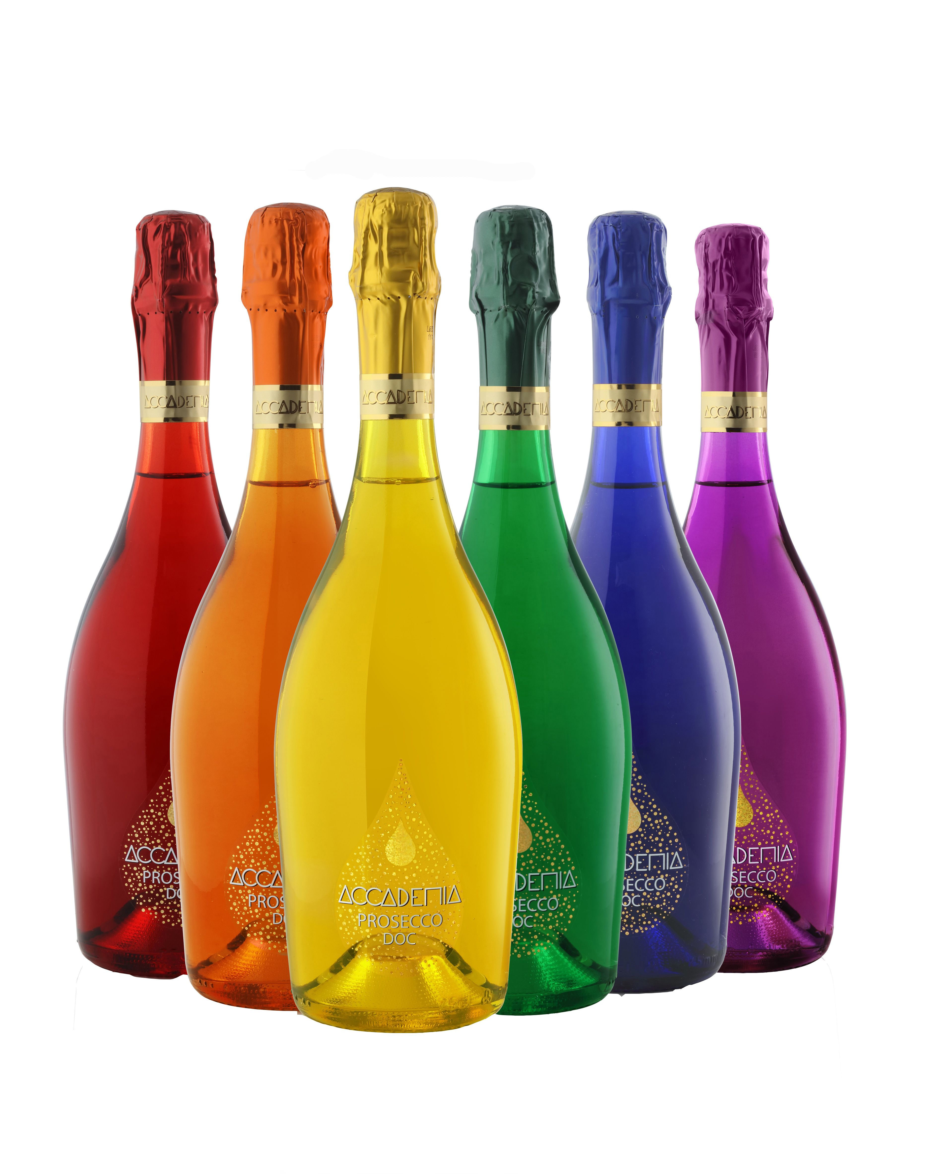 Bottega Accademia Rainbow Prosecco (6-bottle pack)  Front Label