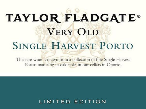Taylor Fladgate Very Old Single Harvest Port 1968 Front Label