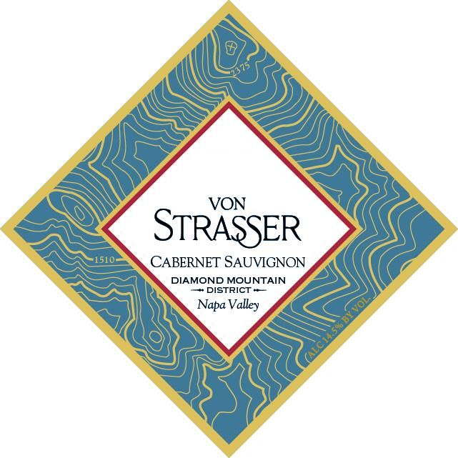 Von Strasser Diamond Mountain Cabernet Sauvignon 2018  Front Label