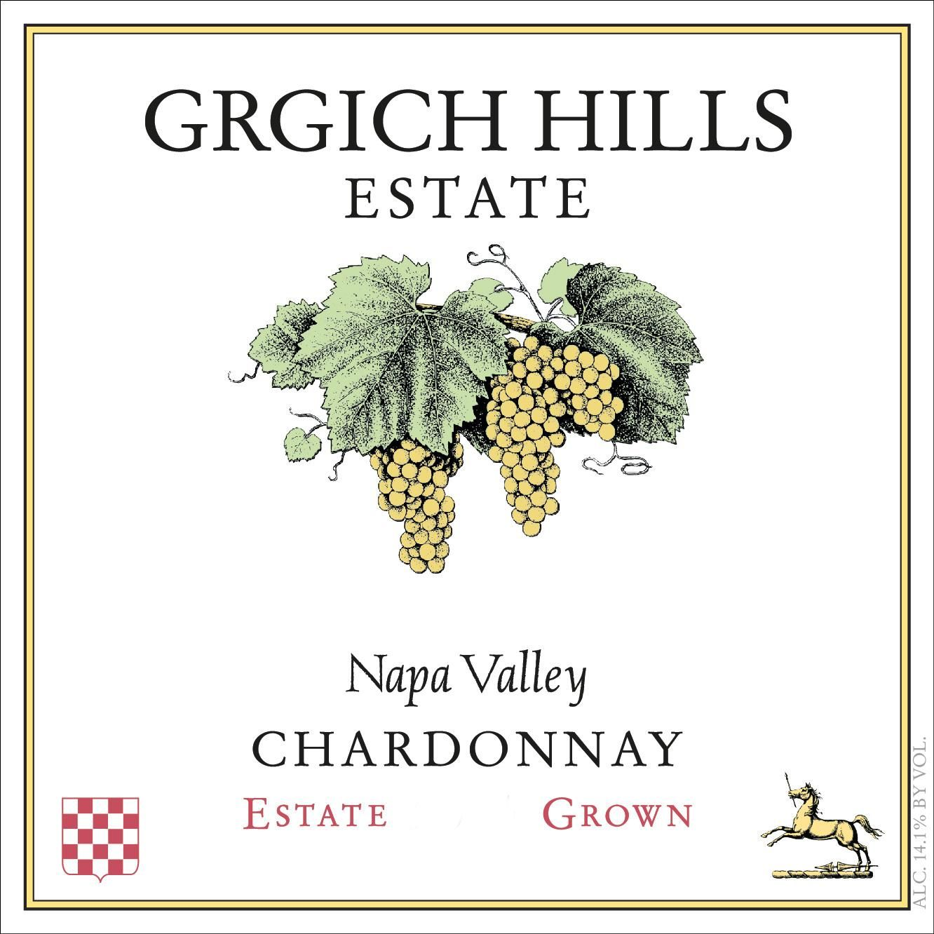 Grgich Hills Estate Chardonnay 2016  Front Label