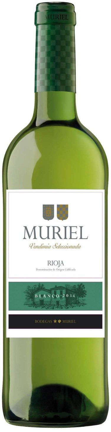 Bodegas Muriel Blanco 2014 Front Bottle Shot
