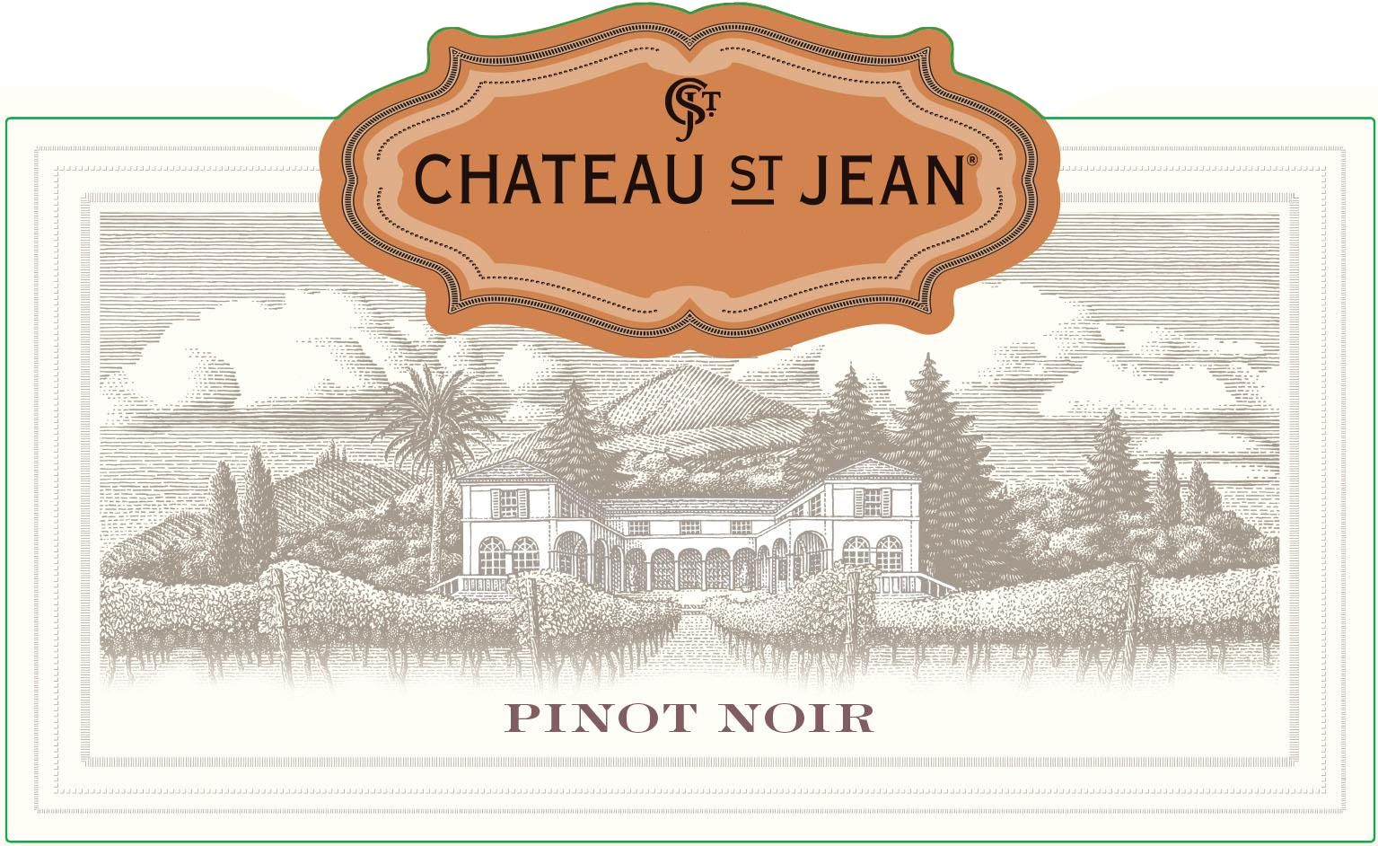 Chateau St. Jean California Pinot Noir 2018  Front Label