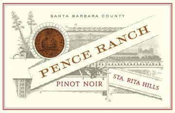 Pence Ranch Pinot Noir 2017 Front Label
