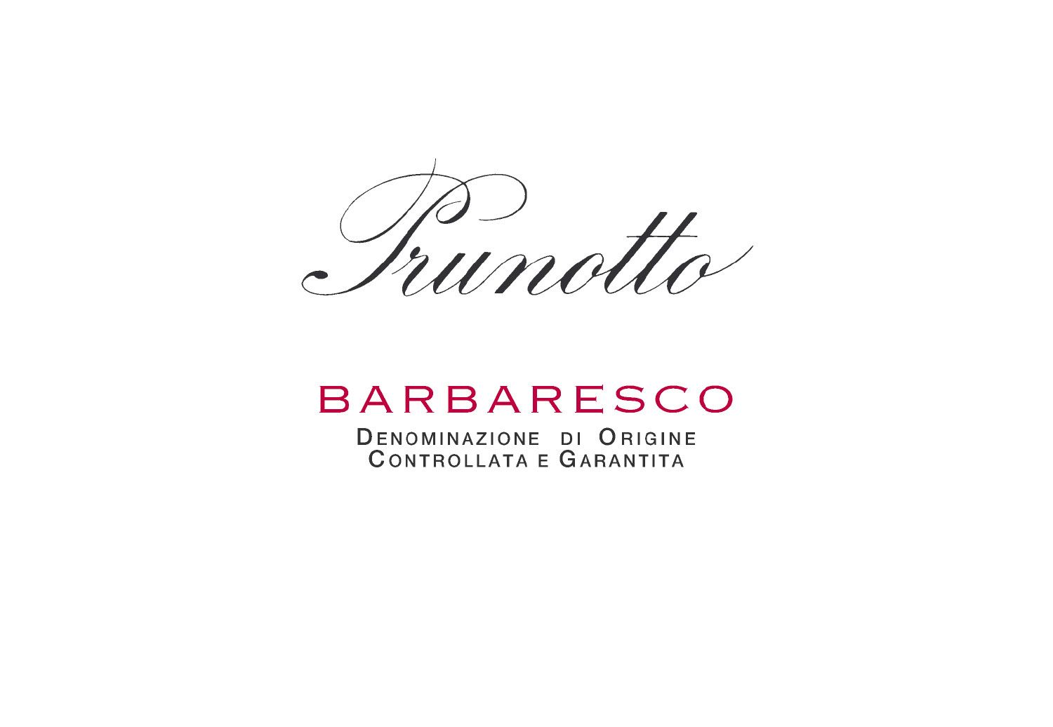 Prunotto Barbaresco 2016  Front Label