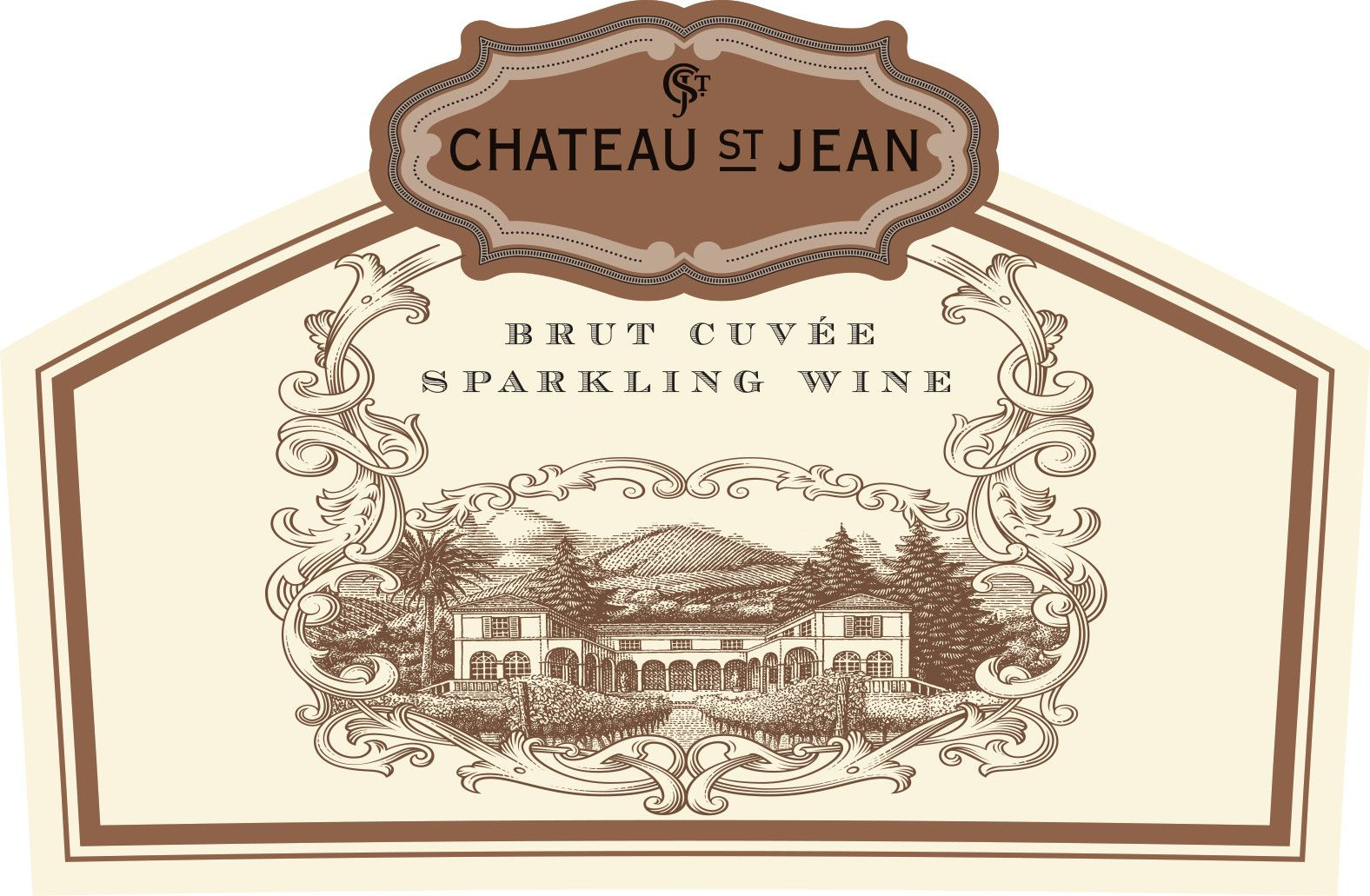 Chateau St. Jean Brut Cuvee Sparkling Wine  Front Label