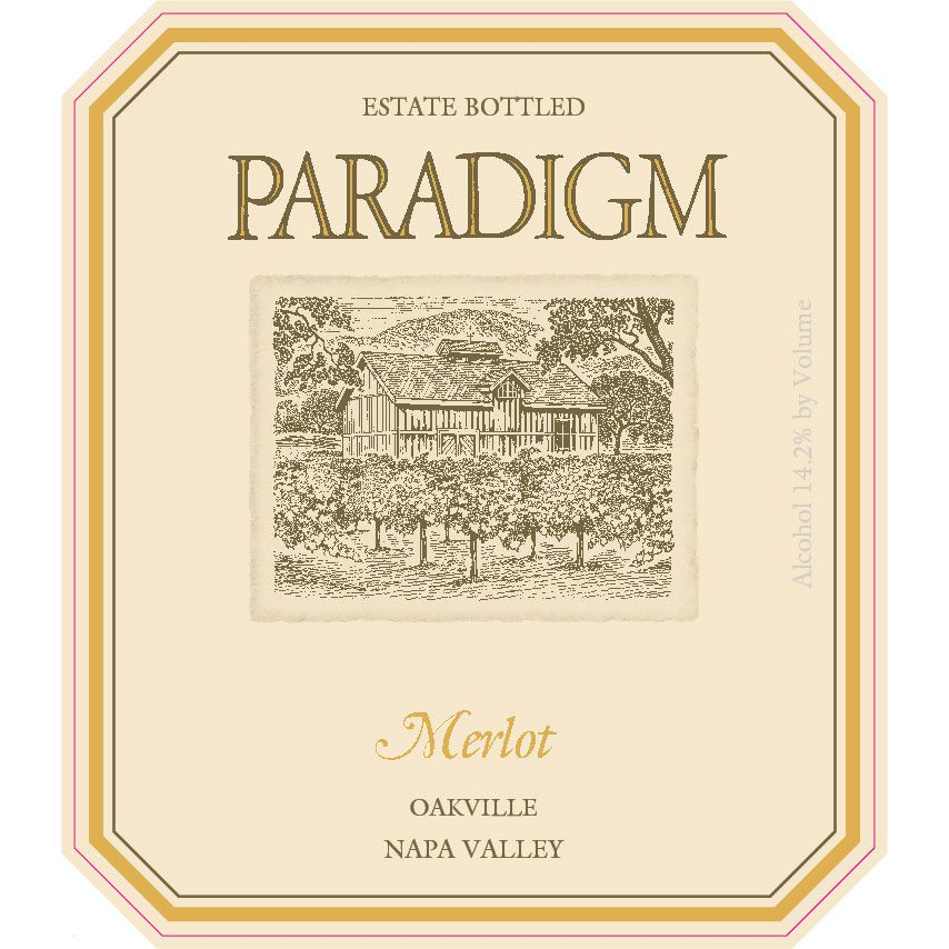 Paradigm Merlot 2016  Front Label