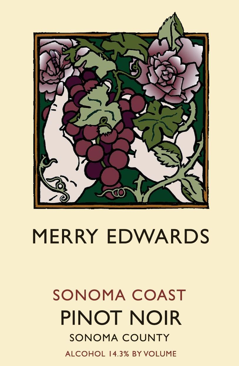 Merry Edwards Sonoma Coast Pinot Noir 2017 Front Label