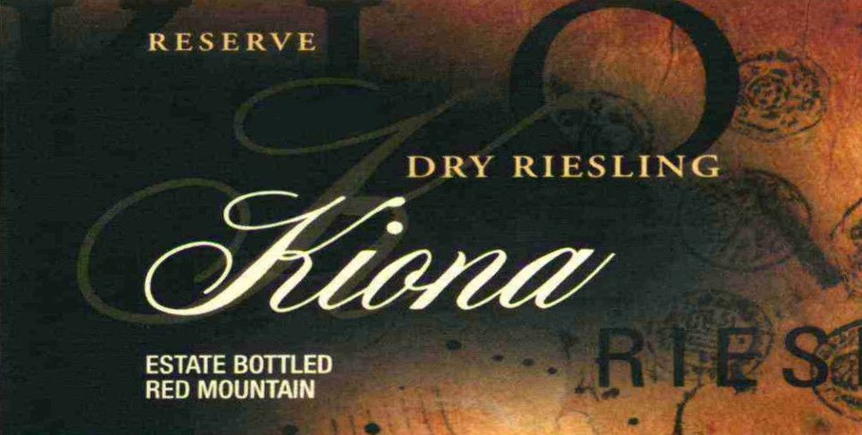 Kiona Reserve Dry Riesling 2006 Front Label