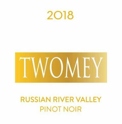 Twomey Cellars by Silver Oak Russian River Pinot Noir 2018  Front Label