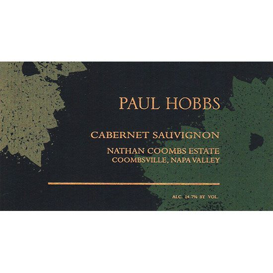Paul Hobbs Nathan Coombs Estate Cabernet Sauvignon 2015  Front Label
