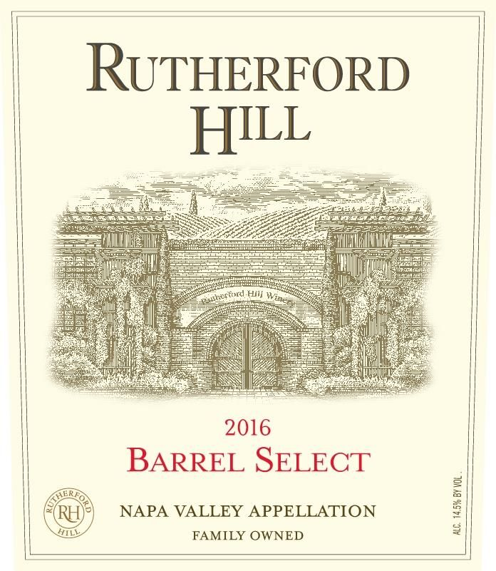 Rutherford Hill Barrel Select Red Blend 2016 Front Label