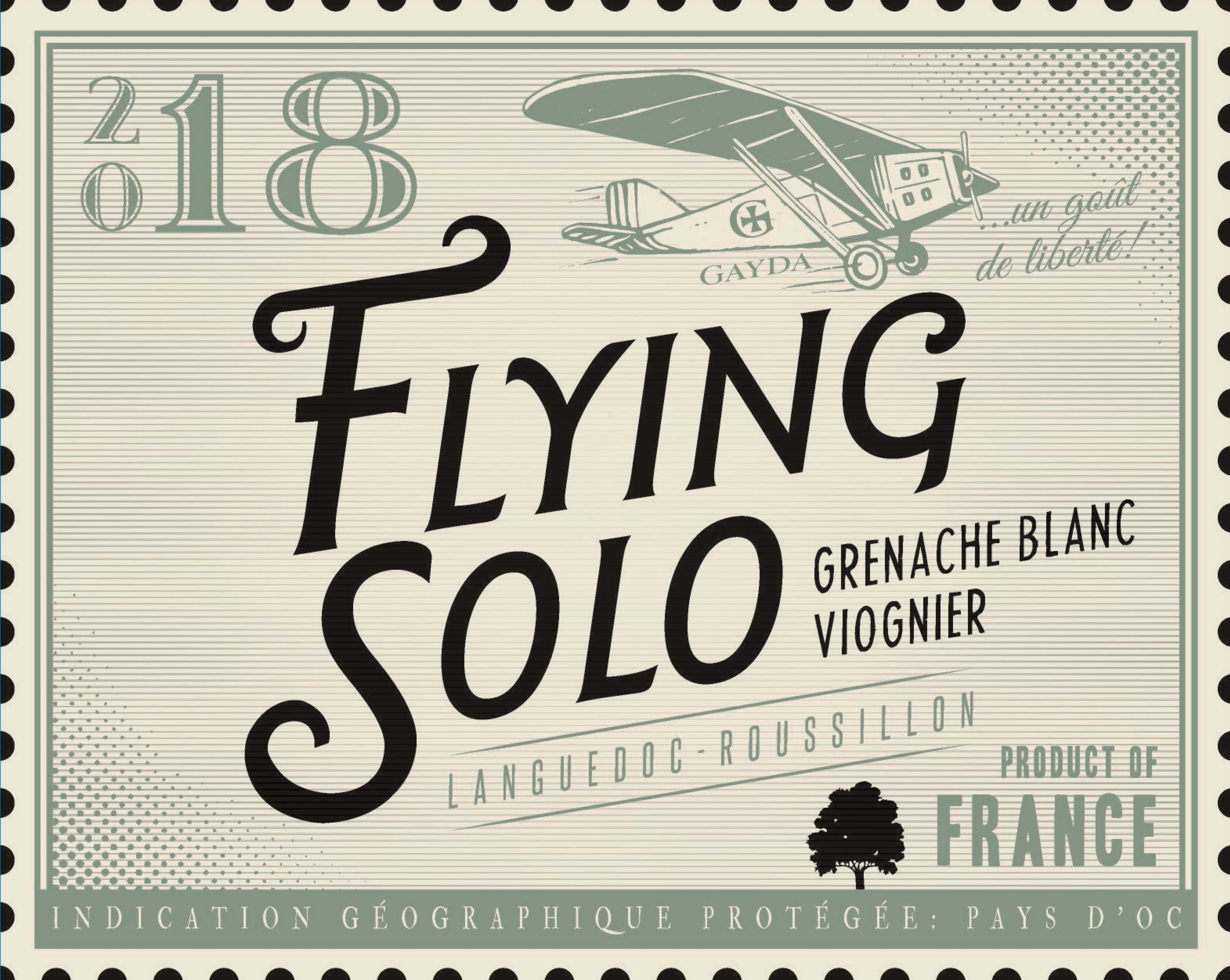 Domaine Gayda Flying Solo Grenache Blanc Viognier 2018  Front Label