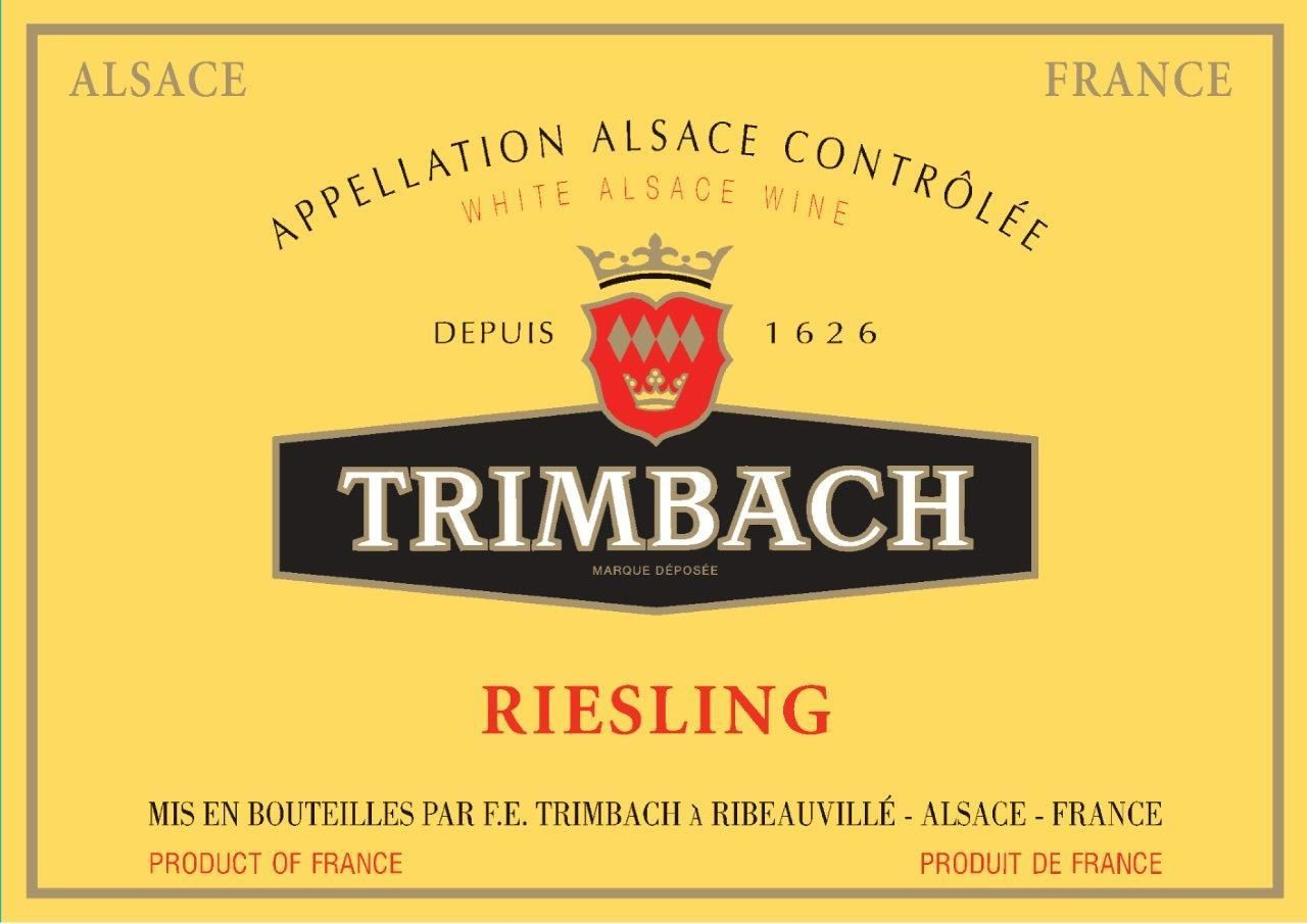 Trimbach Riesling 2016 Front Label