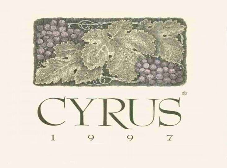 Alexander Valley Vineyards Cyrus 1997 Front Label