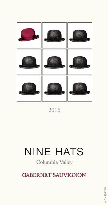 Nine Hats Cabernet Sauvignon 2016 Front Label