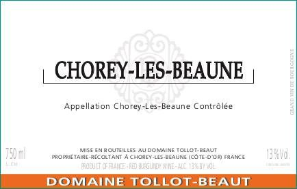 Domaine Tollot-Beaut Chorey-Les-Beaune (375ml half-bottle) 2014 Front Label