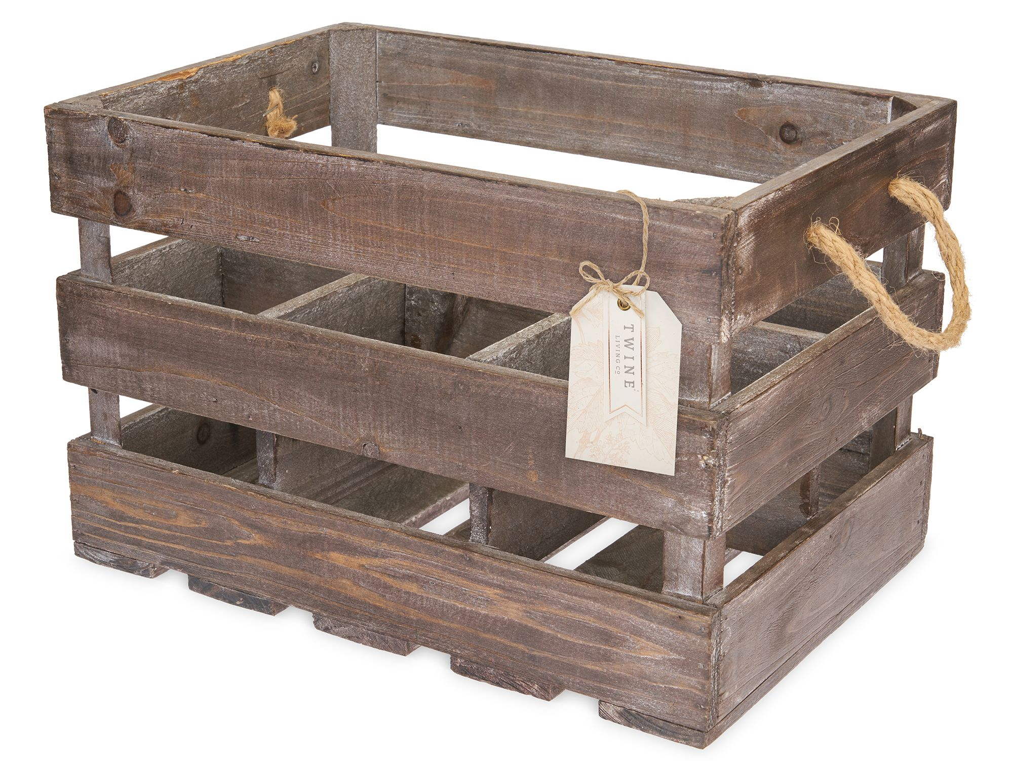 wine.com Wooden 6-Bottle Crate  Gift Product Image