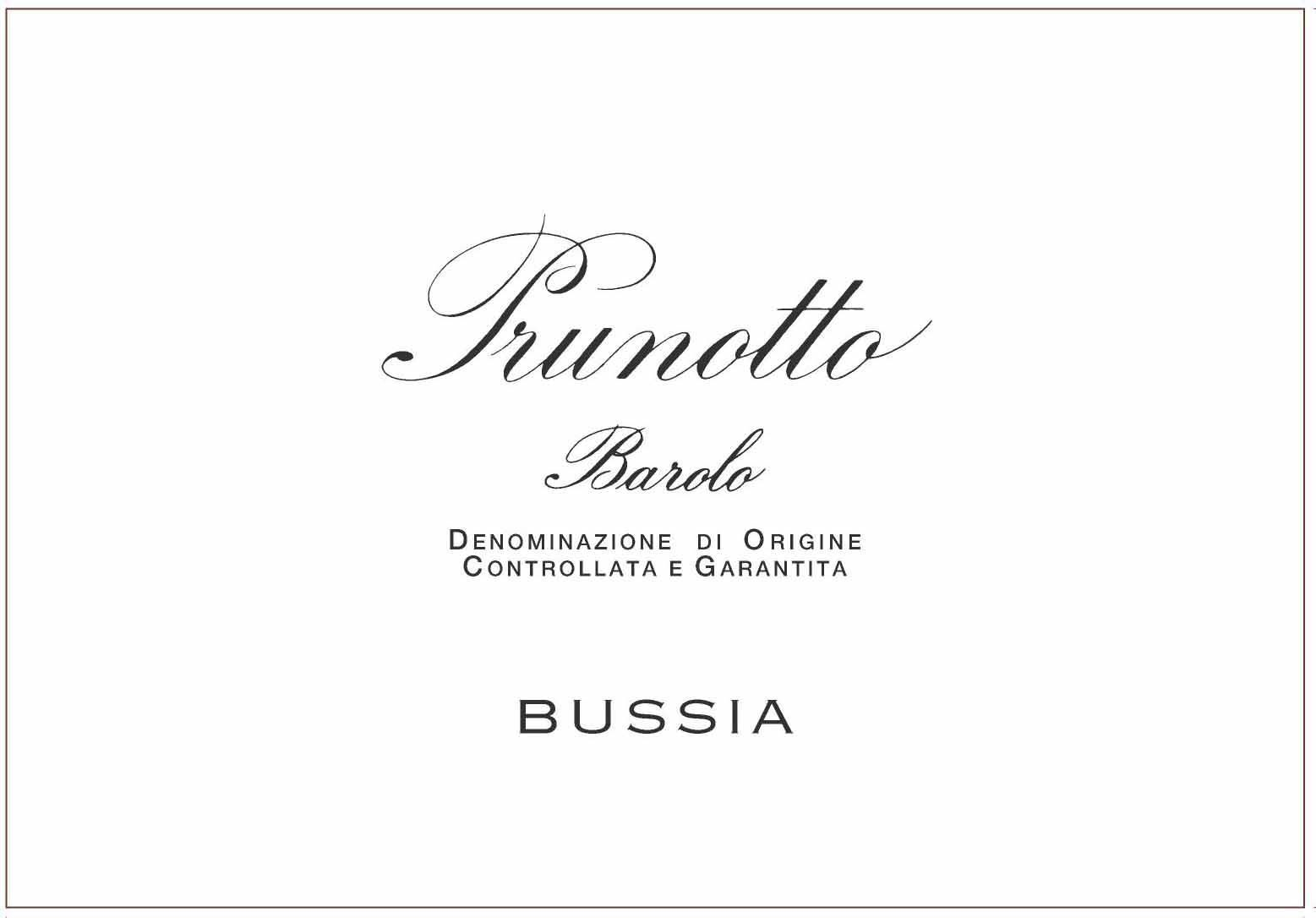 Prunotto Bussia Barolo (1.5 Liter Magnum) 2013  Front Label