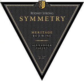 Rodney Strong Symmetry Meritage 1997 Front Label
