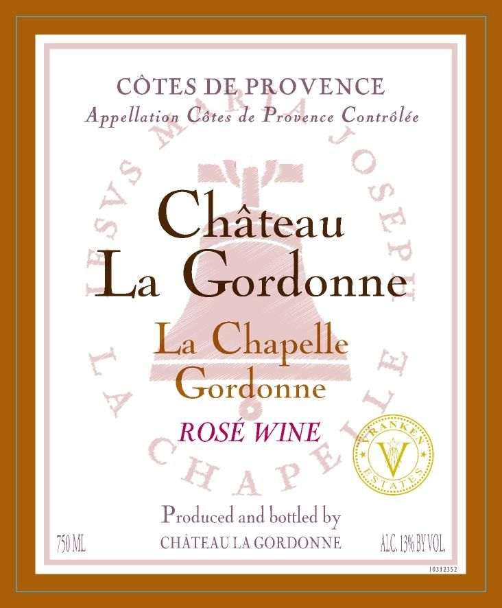 Chateau La Gordonne La Chapelle Gordonne Rose 2018  Front Label