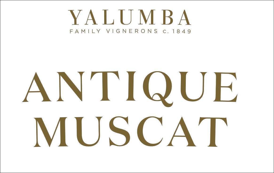 Yalumba Antique Muscat (375ML half-bottle)  Front Label