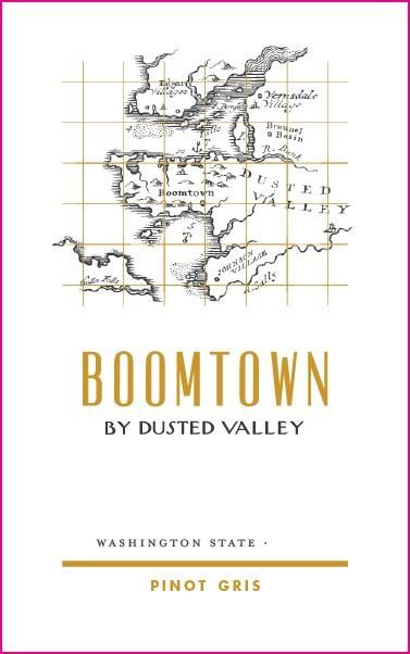 Boomtown by Dusted Valley Pinot Gris 2018  Front Label