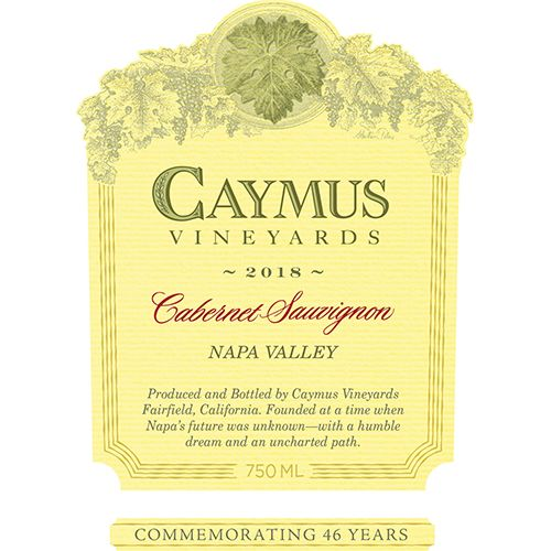 Caymus Napa Valley Cabernet Sauvignon 2018  Front Label