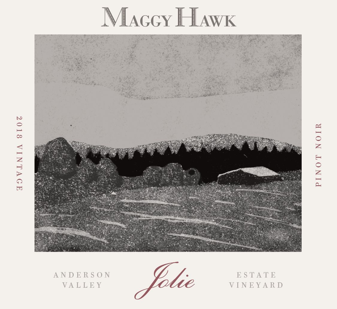 Maggy Hawk Jolie Anderson Valley Pinot Noir 2018  Front Label