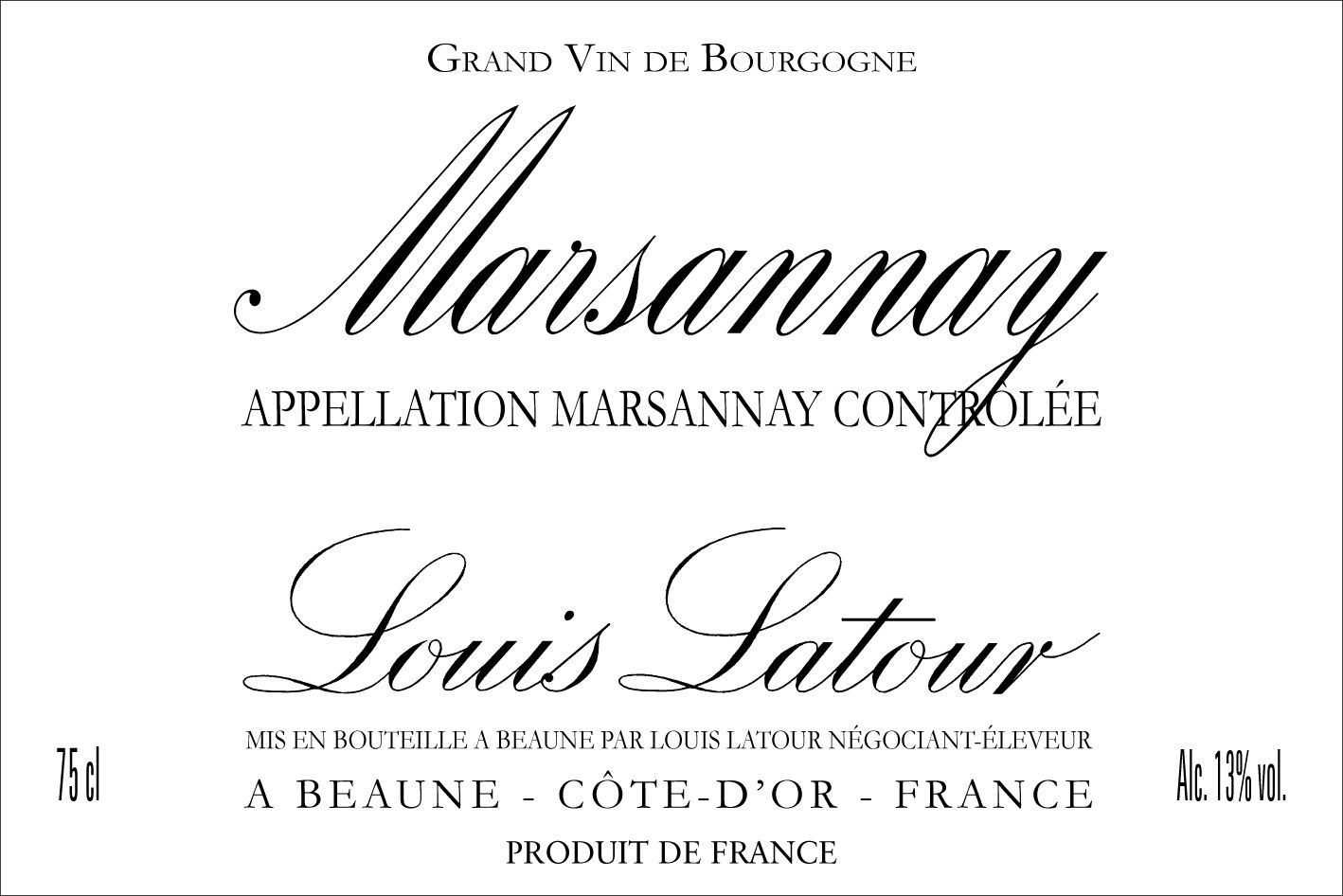 Louis Latour Marsannay Rouge 2017  Front Label