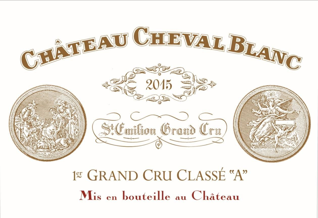 Chateau Cheval Blanc  2015  Front Label