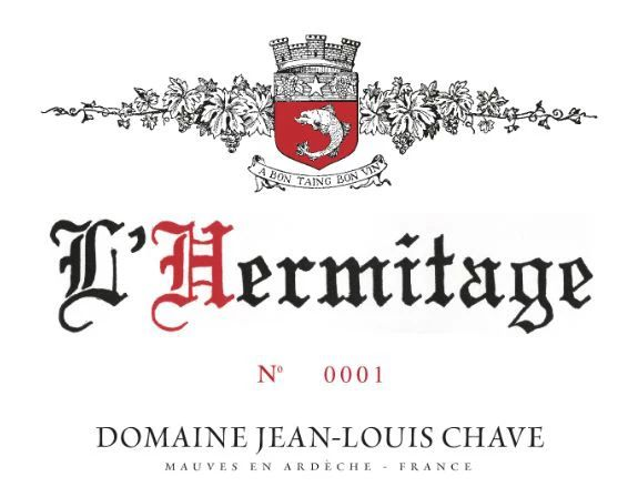 Jean-Louis Chave Hermitage 2016  Front Label