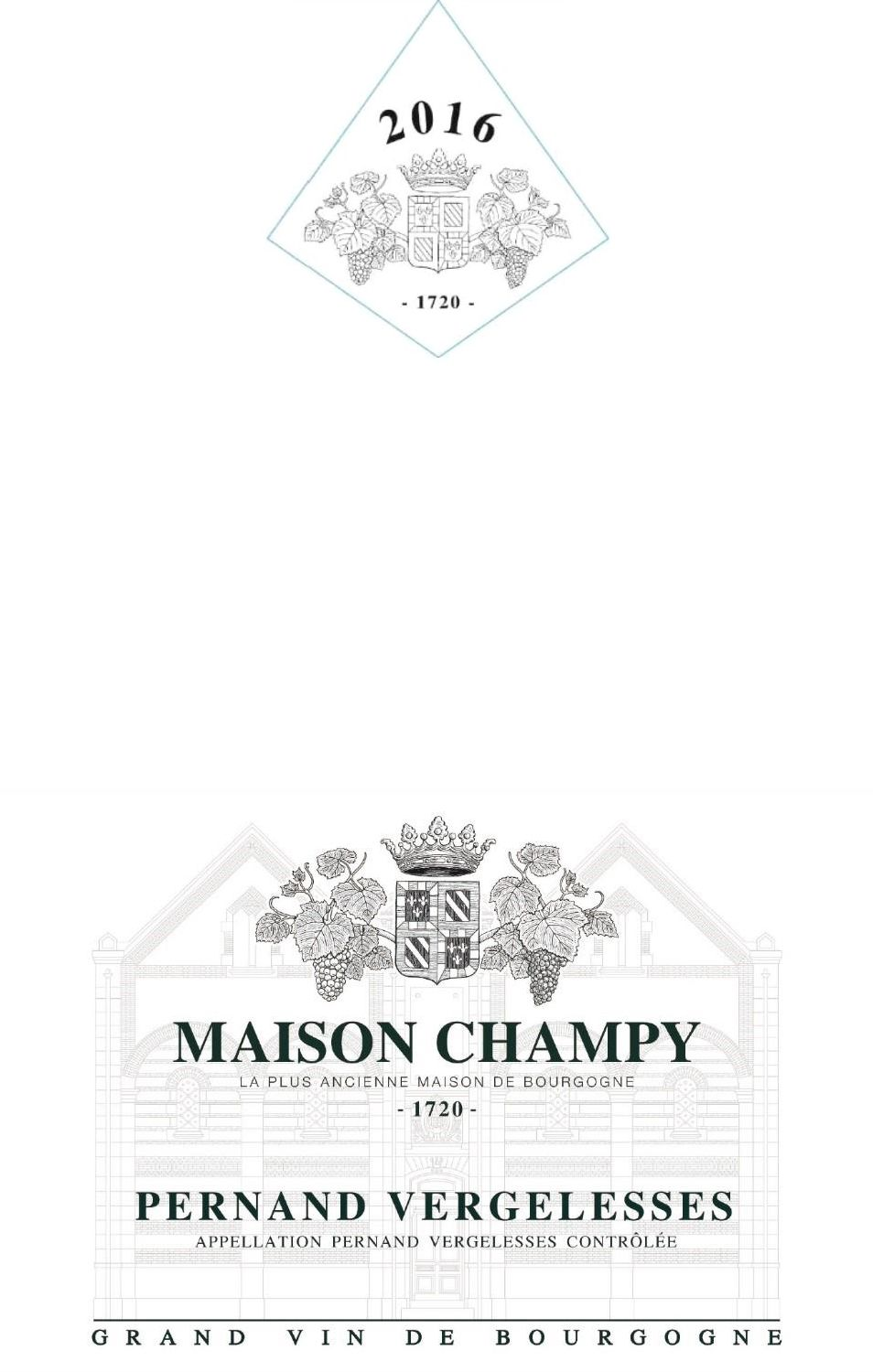 Maison Champy Pernand-Vergelesses 2016 Front Label