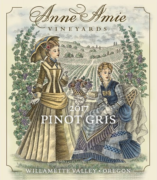 Anne Amie Pinot Gris 2017  Front Label